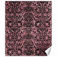 Damask2 Black Marble & Pink Glitter Canvas 20  X 24   by trendistuff