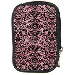 Damask2 Black Marble & Pink Glitter Compact Camera Cases by trendistuff
