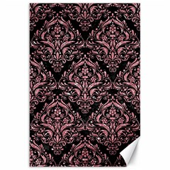 Damask1 Black Marble & Pink Glitter (r) Canvas 20  X 30   by trendistuff