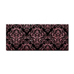 Damask1 Black Marble & Pink Glitter (r) Cosmetic Storage Cases by trendistuff