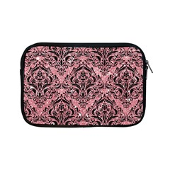 Damask1 Black Marble & Pink Glitter Apple Ipad Mini Zipper Cases by trendistuff