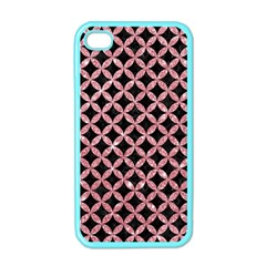 Circles3 Black Marble & Pink Glitter (r) Apple Iphone 4 Case (color) by trendistuff