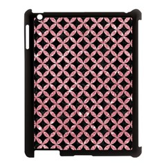 Circles3 Black Marble & Pink Glitter (r) Apple Ipad 3/4 Case (black) by trendistuff