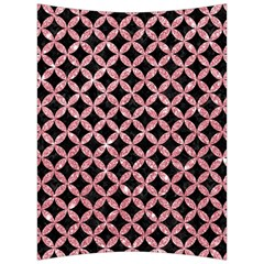 Circles3 Black Marble & Pink Glitter (r) Back Support Cushion by trendistuff