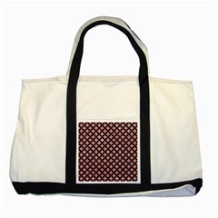 Circles3 Black Marble & Pink Glitter Two Tone Tote Bag by trendistuff