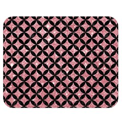 Circles3 Black Marble & Pink Glitter Double Sided Flano Blanket (medium)  by trendistuff
