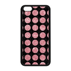 Circles1 Black Marble & Pink Glitter (r) Apple Iphone 5c Seamless Case (black) by trendistuff