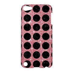 Circles1 Black Marble & Pink Glitter Apple Ipod Touch 5 Hardshell Case by trendistuff