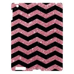 Chevron3 Black Marble & Pink Glitterchevron3 Black Marble & Pink Glitter Apple Ipad 3/4 Hardshell Case by trendistuff