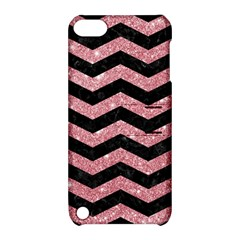 Chevron3 Black Marble & Pink Glitterchevron3 Black Marble & Pink Glitter Apple Ipod Touch 5 Hardshell Case With Stand by trendistuff