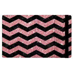 Chevron3 Black Marble & Pink Glitterchevron3 Black Marble & Pink Glitter Apple Ipad Pro 9 7   Flip Case by trendistuff