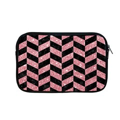 Chevron1 Black Marble & Pink Glitter Apple Macbook Pro 13  Zipper Case by trendistuff