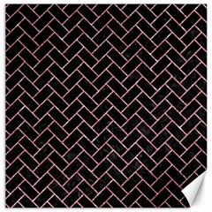 Brick2 Black Marble & Pink Glitter (r) Canvas 12  X 12   by trendistuff