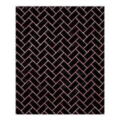 Brick2 Black Marble & Pink Glitter (r) Shower Curtain 60  X 72  (medium)  by trendistuff