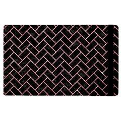 Brick2 Black Marble & Pink Glitter (r) Apple Ipad Pro 9 7   Flip Case by trendistuff