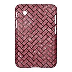 Brick2 Black Marble & Pink Glitter Samsung Galaxy Tab 2 (7 ) P3100 Hardshell Case  by trendistuff