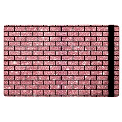 Brick1 Black Marble & Pink Glitter Apple Ipad 2 Flip Case by trendistuff