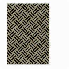 Woven2 Black Marble & Khaki Fabric Large Garden Flag (two Sides) by trendistuff