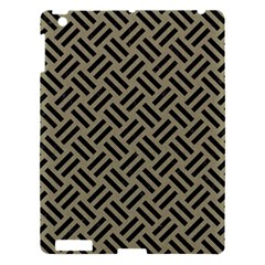 Woven2 Black Marble & Khaki Fabric Apple Ipad 3/4 Hardshell Case by trendistuff