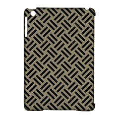 Woven2 Black Marble & Khaki Fabric Apple Ipad Mini Hardshell Case (compatible With Smart Cover) by trendistuff