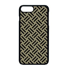 Woven2 Black Marble & Khaki Fabric Apple Iphone 8 Plus Seamless Case (black) by trendistuff