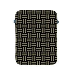 Woven1 Black Marble & Khaki Fabric (r) Apple Ipad 2/3/4 Protective Soft Cases by trendistuff