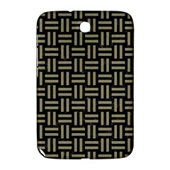 Woven1 Black Marble & Khaki Fabric (r) Samsung Galaxy Note 8 0 N5100 Hardshell Case  by trendistuff