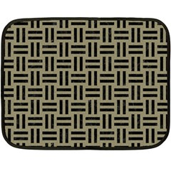Woven1 Black Marble & Khaki Fabric Fleece Blanket (mini) by trendistuff