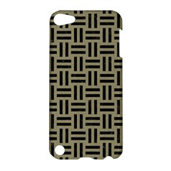 Woven1 Black Marble & Khaki Fabric Apple Ipod Touch 5 Hardshell Case by trendistuff