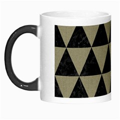 Triangle3 Black Marble & Khaki Fabric Morph Mugs by trendistuff