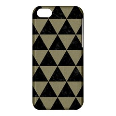 Triangle3 Black Marble & Khaki Fabric Apple Iphone 5c Hardshell Case by trendistuff