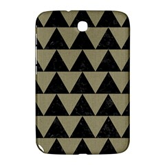 Triangle2 Black Marble & Khaki Fabric Samsung Galaxy Note 8 0 N5100 Hardshell Case  by trendistuff