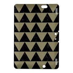 Triangle2 Black Marble & Khaki Fabric Kindle Fire Hdx 8 9  Hardshell Case by trendistuff