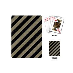 Stripes3 Black Marble & Khaki Fabric (r) Playing Cards (mini)  by trendistuff