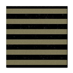 Stripes2black Marble & Khaki Fabric Face Towel by trendistuff