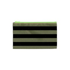 Stripes2black Marble & Khaki Fabric Cosmetic Bag (xs) by trendistuff