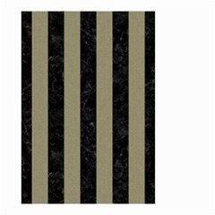Stripes1 Black Marble & Khaki Fabric Small Garden Flag (two Sides) by trendistuff