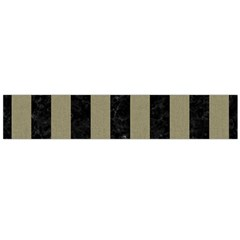 Stripes1 Black Marble & Khaki Fabric Large Flano Scarf  by trendistuff