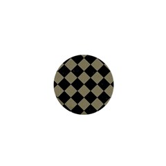 Square2 Black Marble & Khaki Fabric 1  Mini Magnets by trendistuff