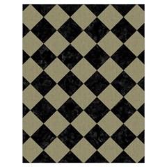 Square2 Black Marble & Khaki Fabric Drawstring Bag (large) by trendistuff