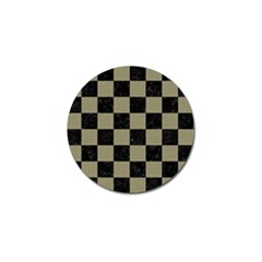 Square1 Black Marble & Khaki Fabric Golf Ball Marker by trendistuff
