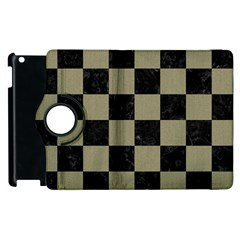 Square1 Black Marble & Khaki Fabric Apple Ipad 3/4 Flip 360 Case by trendistuff