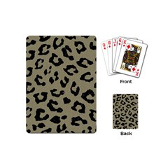 Skin5 Black Marble & Khaki Fabric (r) Playing Cards (mini)  by trendistuff