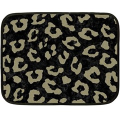 Skin5 Black Marble & Khaki Fabric Fleece Blanket (mini) by trendistuff