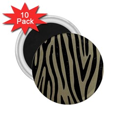 Skin4 Black Marble & Khaki Fabric (r) 2 25  Magnets (10 Pack)  by trendistuff
