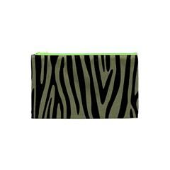 Skin4 Black Marble & Khaki Fabric (r) Cosmetic Bag (xs) by trendistuff