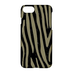 Skin4 Black Marble & Khaki Fabric Apple Iphone 7 Hardshell Case by trendistuff