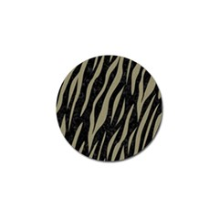 Skin3 Black Marble & Khaki Fabric (r) Golf Ball Marker (4 Pack) by trendistuff