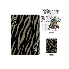 Skin3 Black Marble & Khaki Fabric (r) Playing Cards 54 (mini)  by trendistuff
