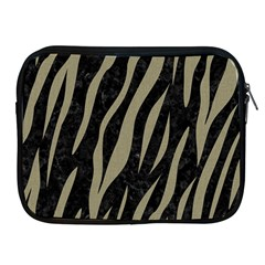 Skin3 Black Marble & Khaki Fabric (r) Apple Ipad 2/3/4 Zipper Cases by trendistuff